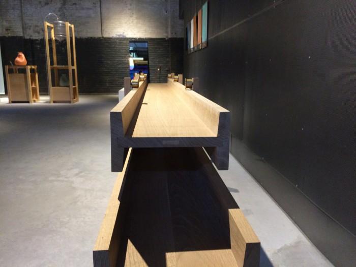 Kazerne Designausstellung Dressoir I-joist von Steven Banken