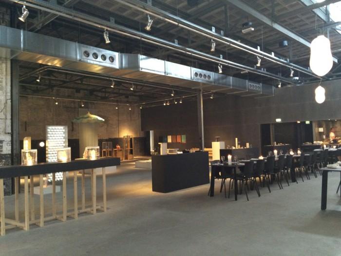 Kazerne Ansicht Restaurant mit Ausstellungsbereich